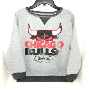 CHICAGO BULLS Majestic Pullover SWEATSHIRT Sz S